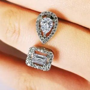 Jewelry - New .925 Pave Adjustable Lab Created diamond ring